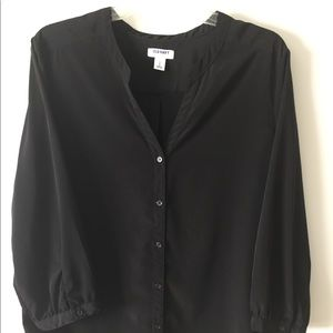 Black Old Navy button down blouse.